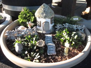 Fairy Gardens supplies at Sawyer's Garden Center in Clarion County, Pa.